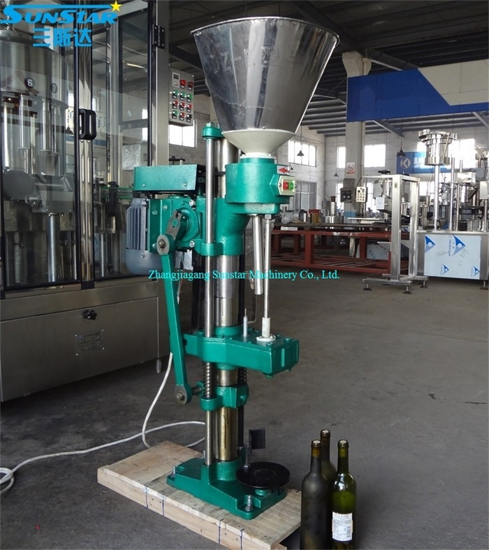 Semi automatic cork capping machine for wine bottle with cork stopper