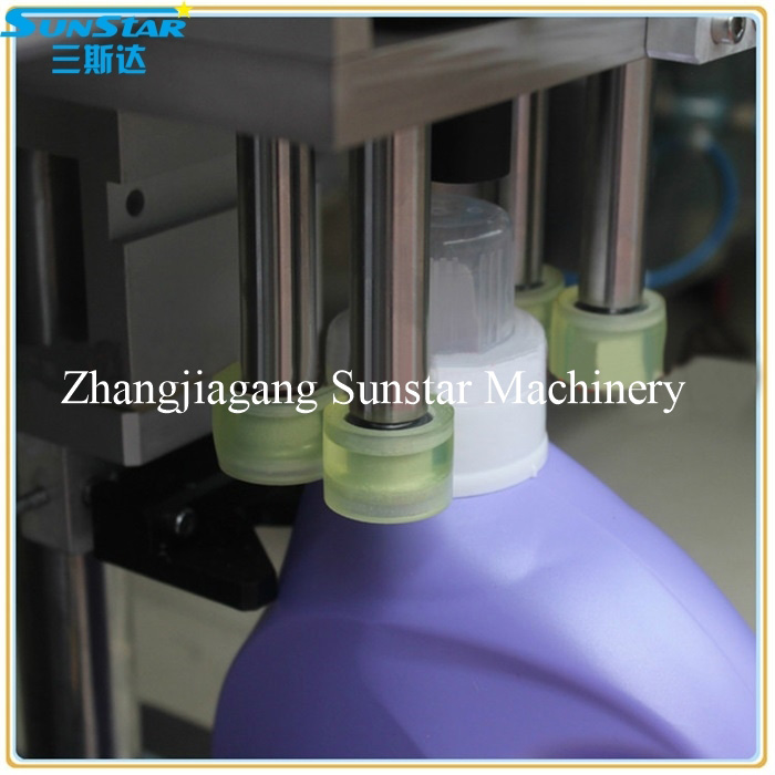 semi automatic twist capping machine for shampoo