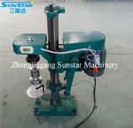Semi automatic glass jar twist capping machine for juice sauce drink food